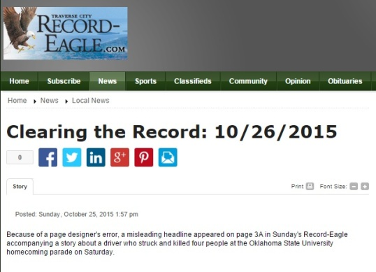 Clearing record